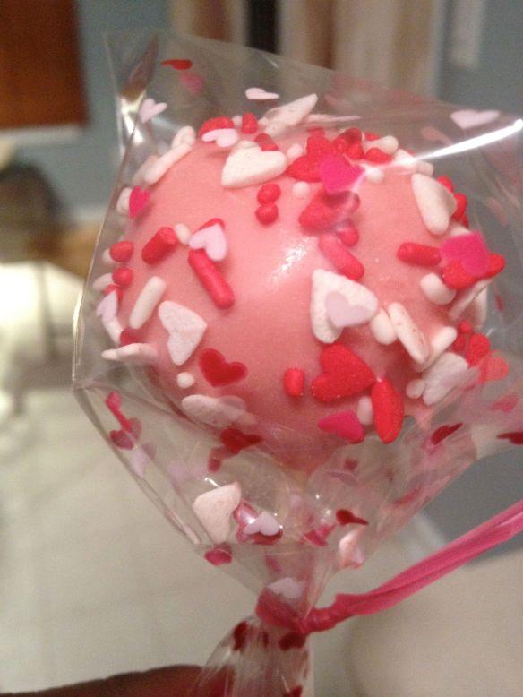 vday cake pop