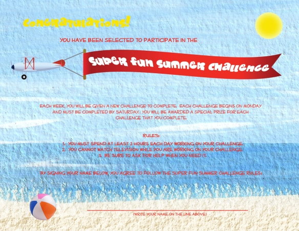 super fun summer challenge contract