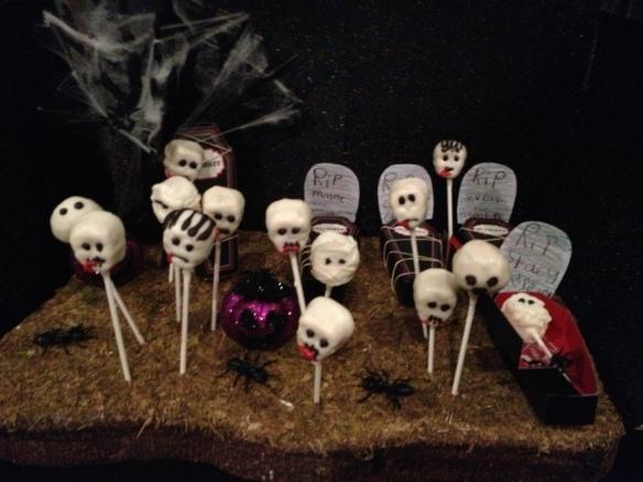 cakepop zombie graveyard