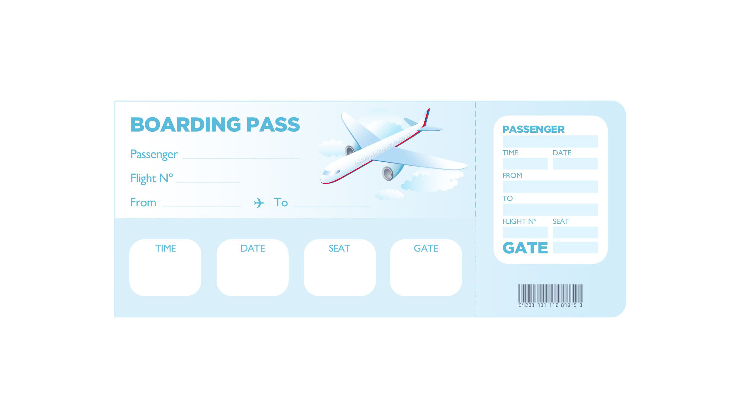 Boarding Pass Template Free – Template Design