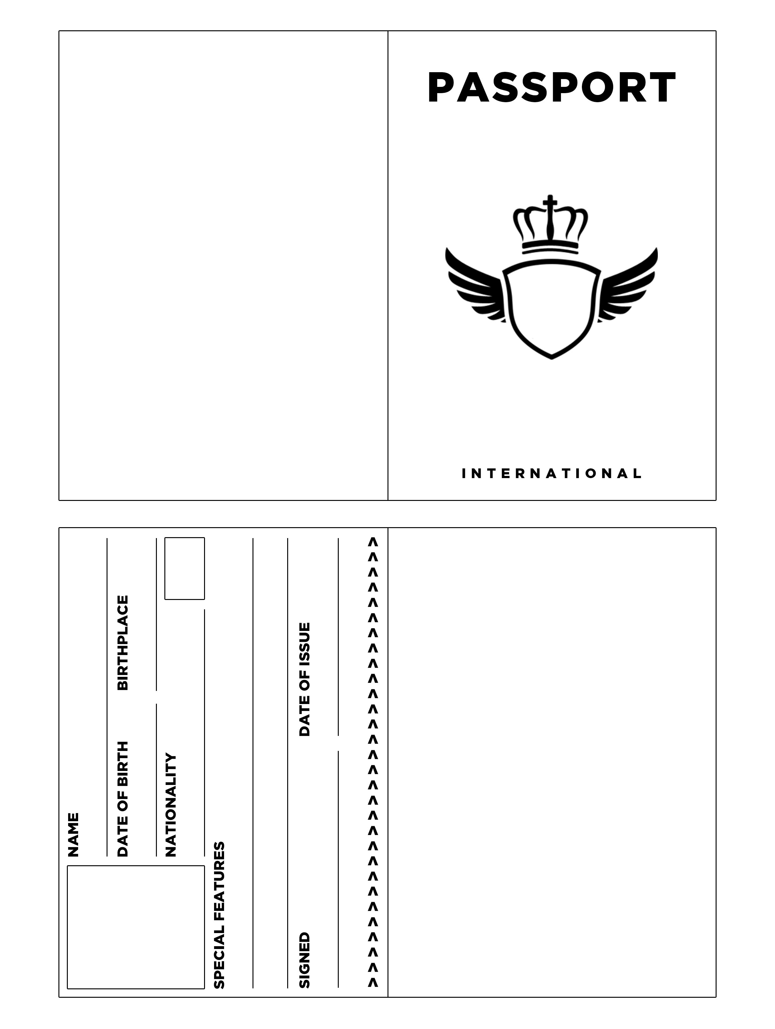 printable passport template for kids super fun summer challenge 2014 week 3 her life inspired