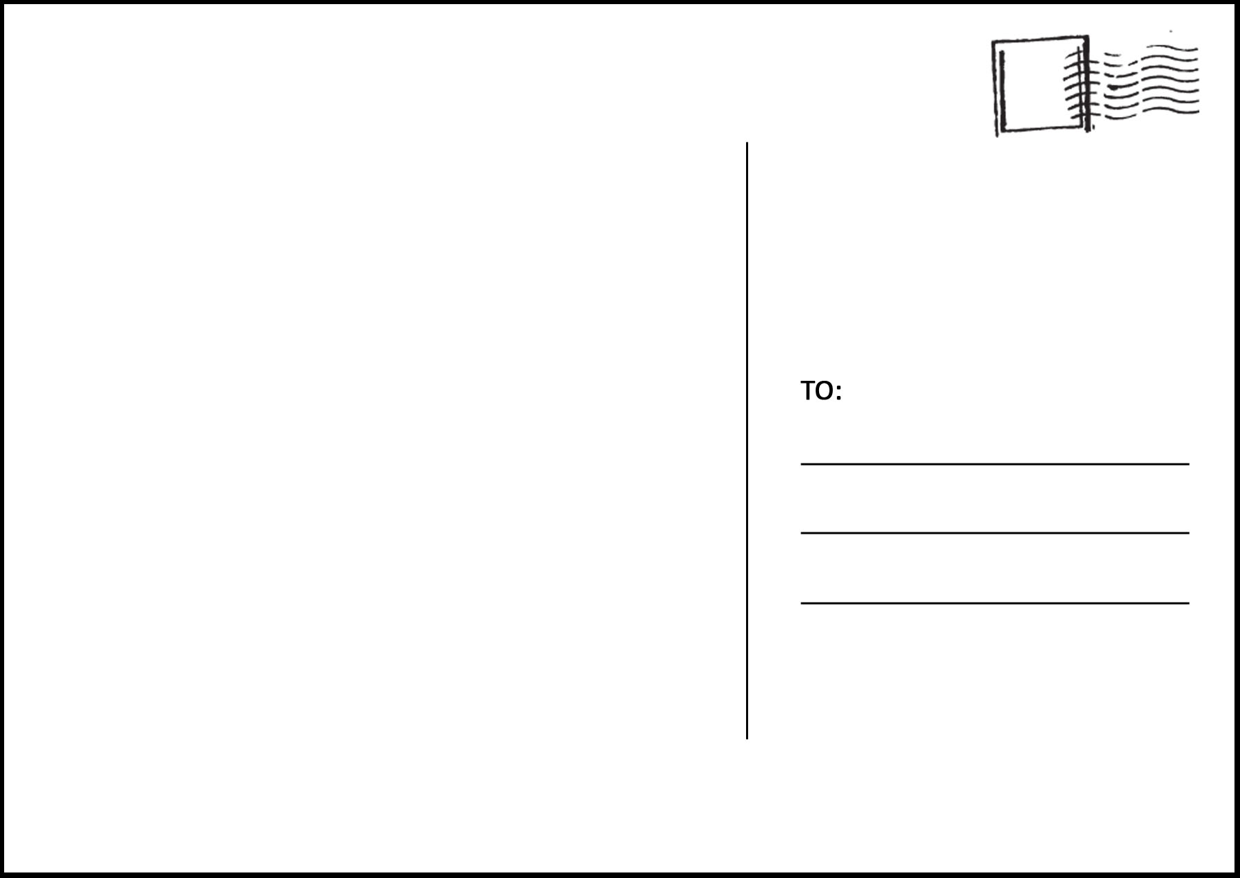 free postcard templates word