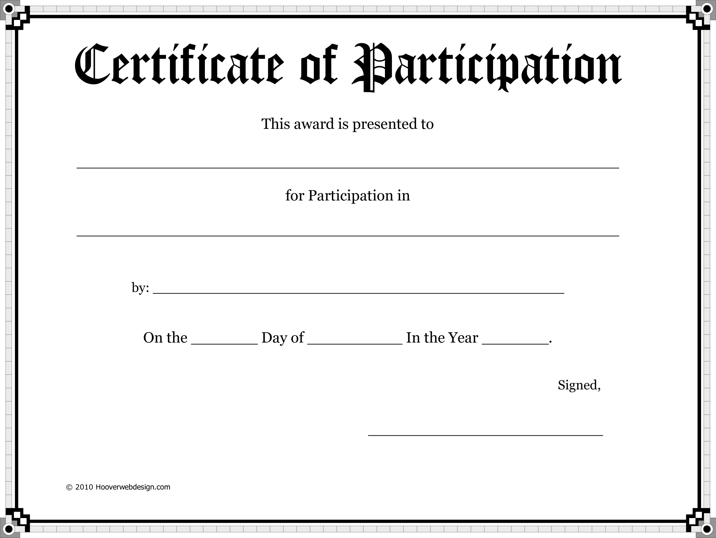 Doc500353 Certificate of Attendance Template Microsoft Word – Certificate of Attendance Template Microsoft Word