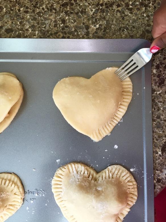 heart apple pie filled