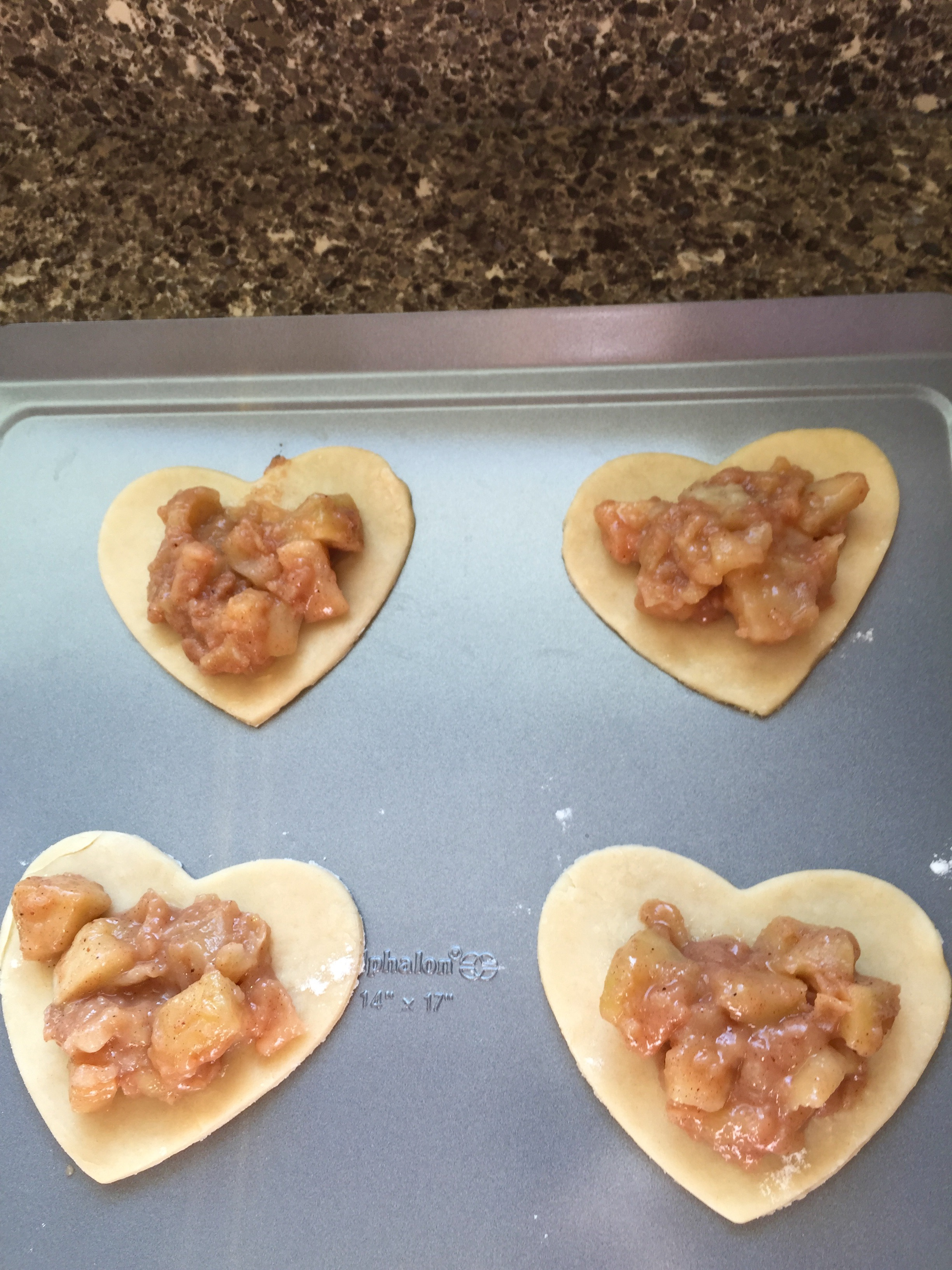 heart apple pie filling