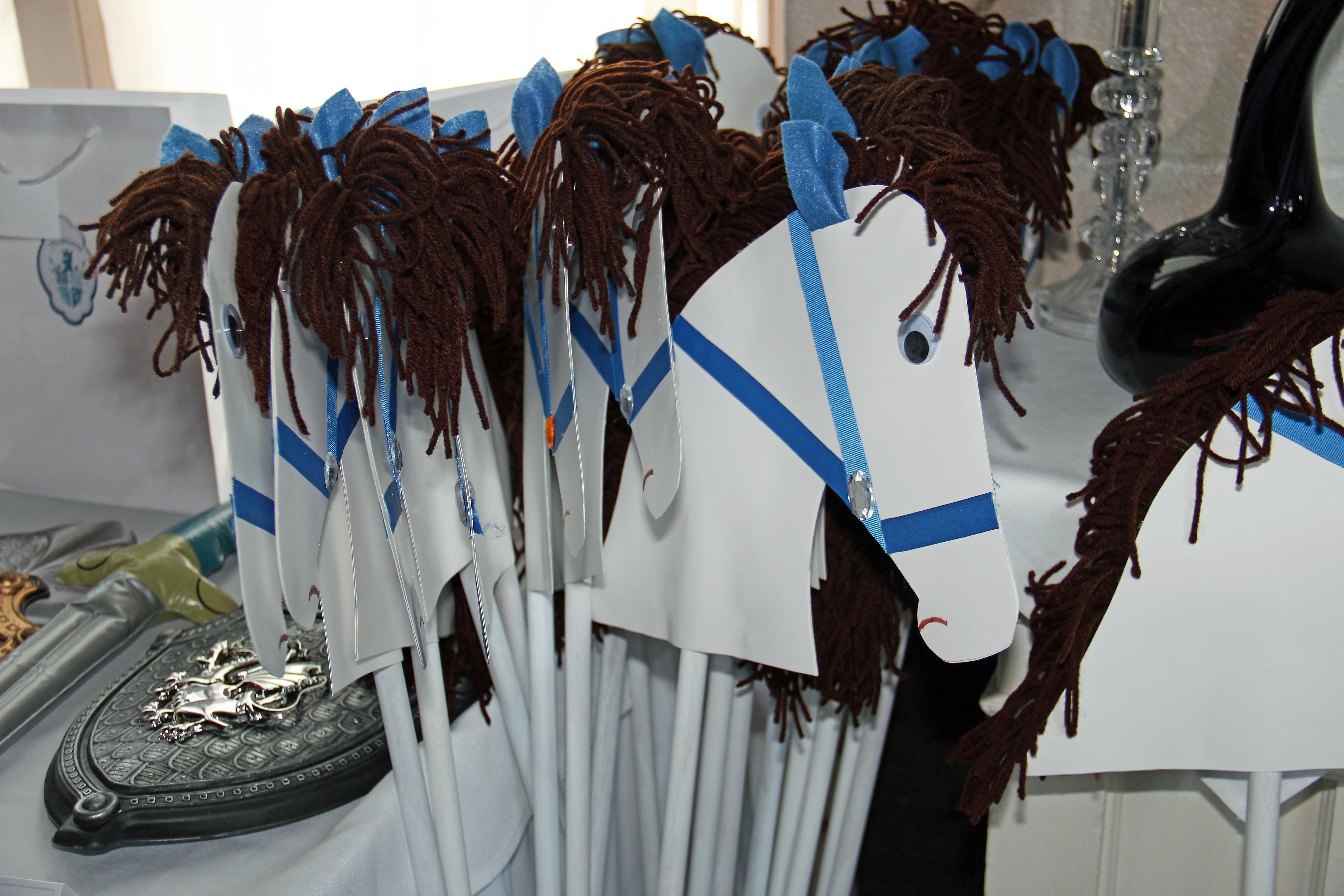 Boy Stick Horses