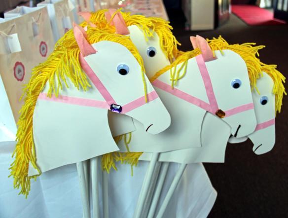 Girl Stick Horses