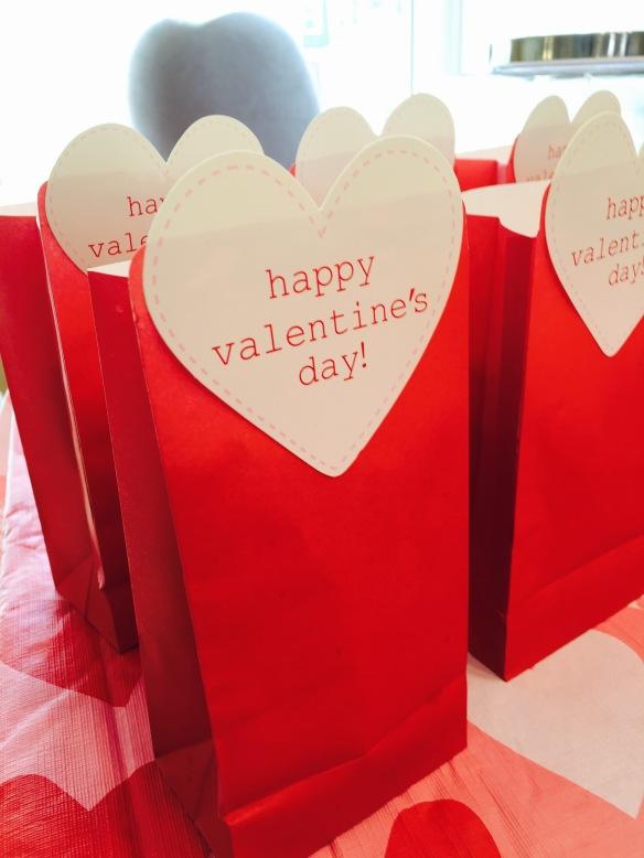 Valentine's Day Popcorn Bags