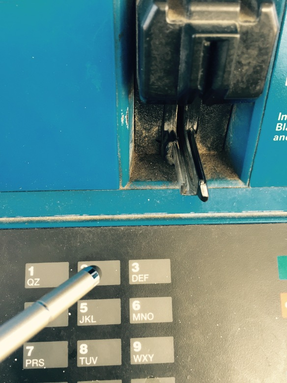 No Touch Pen at Gas Station